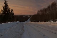 Last sunrays over the town. (moshepotz) Tags: landscape sunset dusk evening winter pikalyovo пейзаж вечер закат сумерки зима пикалёво бокситогорскийрайон ленинградскаяобласть