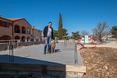 Me and Blue controling foundation of new house  immobilien in istrien  pula | maris real estate agency Kroatien 2017 (Nekretnine Maris) Tags: immobilien istrien immo istria kroatien houser peroj kuca na prodaju house for sale izgradnja kuce by sea croatia haus direkt am meer kaufen u istri prodaja