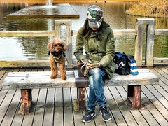 Woman Best Friend (-Faisal Aljunied - !!) Tags: coloursstreetphotography japanese dog women streetphotography japan tokyo yoyogipark iphone7plus faisalaljunied