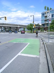 Looks green to me 201305171038 713 (Luton) Tags: bicycle vancouver bicycling advocacy bikelanes
