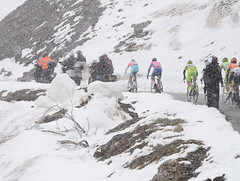 The storm of the Col du Galibier (Alefederico) Tags: snow cycling galibier giroditalia nibali