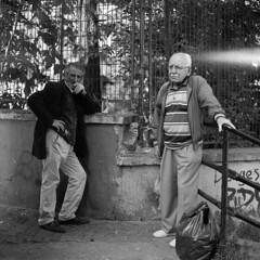 elderly men (OlaAlexandrova) Tags: portrait people bw man men 6x6 turkey istanbul bronica medium format sqa