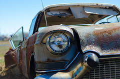Old Car 3 (x0allie) Tags: old summer car cool rust pretty headlights grill oldcar