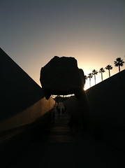 Levitated Mass (mrbosslady) Tags: sunset rock losangeles lacma levitatedmass