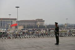 Garde  vous ! - Attention ! (Solange B) Tags: china museum guard beijing muse tiananmen garde soldat chine pkin