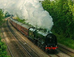 46233 Duchess of Sutherland hauls The Great Northern Excursion out of Derby towards Little Eaton, 8 June 2013 (camano10) Tags: pacific derby duchessofsutherland stanier 46233 littleeaton