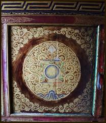 Inside roof at Lamayuru temple (Indianature25) Tags: india mountains temple may buddhism monastery buddhisttemple himalayas jk ladakh tibetanbuddhism naropa lamayuru 2013 lamayurumonastery indianature naropascave ladakhbuddhism