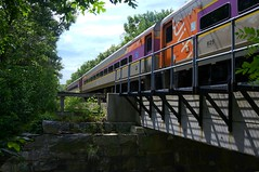 the Stoughton Line (t55z) Tags: bridge train massachusetts overpass mbta commuterrail canton mbcr