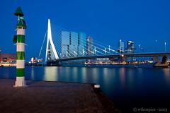Rotterdam cityscape (Wilco Schippers) Tags: sunset skyline rotterdam kopvanzuid erasmusbrug