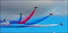 Break! (Aimless Alliterations) Tags: uk england aircraft gloucestershire redarrows raf fairford riat baehawk nikond80 tamron70300mmvc