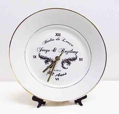 Relogio Prato ou Ceramica (Superprinter Foto Presentes) Tags: cores logo foto restaurante nome azulejo prato horas porcelana relogio goiania personalizado exclusivo ponteiros ceramico