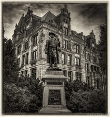 Grant Statue (Bob Sandor 2016) Tags: canon cityhall pano saintlouis hdr bwphotography ulyssessgrant ptgui ef35f14l stlouisdslrgroup eos5dmarkiii topazclarity silverefexpro2 lightroom5