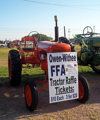 1938 Allis Chalmers B Owen-Withee FFA Tractor Raffle. (dccradio) Tags: old tractor classic grass festival wisconsin vintage fun 1930s antique farm 1938 farming lawn fair powerlines dirt entertainment ag greenery agriculture ac wi agricultural farmequipment electricwires neillsville allischalmers farmmachinery communityevent clarkcounty clarkcountyfair antiquetractors tractorshow oldtractors agco classictra