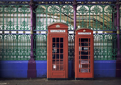 Its good to talk and to listen.. (areyarey) Tags: street old city uk travel red england urban london english history classic public architecture vintage booth call european p