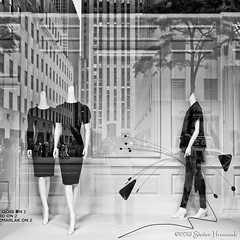 Don't Look for Me, I Have No Fashion Sense. (GAPHIKER) Tags: newyorkcity newyork reflection mannequin window rockefellercenter rockefeller windowdisplay saks 5thave