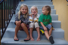 Sitting on the Steps Having Fun 2 (Julie Thurston) Tags: ocean family blue boy vacation playing silly cute beach girl smiling horizontal wall kids swimming children fun happy hawaii kid bucket sand child oahu blueeyes steps smiles blonde bellows cookout familyday pacificisland kiddos childrenplaying bellowsbeach hawaiiisland gettywants