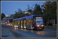 PESA Swing 83 (Zoly060-DA) Tags: city urban night tram swing passengers transportation romania 83 cluj napoca pesa ratuc outstandingromanianphotographers
