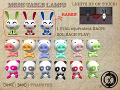 [XTC]Table Lamps Gacha (xero-tree) Tags: life cute lamp table sl second lamps xtc gatcha