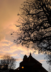 The Day Break... (M!rage008) Tags: sky orange church clouds day break bright windy lampost fiery mirage008