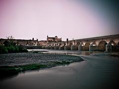 Puente Romano (dagilmar) Tags: río puente atardecer noche olympus romano molino julio verano mezquita córdoba tobacco e30 merce filtro cokin 2013