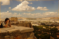VIEW FROM  THE ACROPOLIS  --   ATHENS  Greece (henrhyde (gill)) Tags: mediterranean view sony athens greece acropolis erechthion