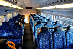 upper deck (Ian Riley [on the right side of the fence]) Tags: morning train coast waterfall empty south australia line deck upper nsw newsouthwales passenger seating northern illawarra