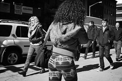 cowboy boots (omoo) Tags: newyorkcity girls bw boys girl boots streetscene sidewalk blonde greenwichvillage cowboyboots girlsandboys universityplace blondegirl blackandbrown bwphotograph beautifulblonde bootsbrown dscn5845 butnottogether girlwearingcowboyboots