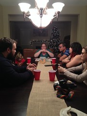 Game Table ([ the black star ]) Tags: friends jared ellen ivan lindsay things kingston stuff angela shrug goodtimes carrieanne melynda theblackstar christmascookieopenhouse