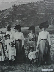 Giulio Cesare Prati Con le sorelle e la famiglia sul lago di Caldonazzo 1908