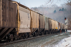 Hoppers on the Move (sullivan1985) Tags: new york ny car amsterdam train sub covered mohawk freight hoppers csx