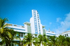 South Beach (Phillip Pessar) Tags: color film beach analog 35mm xprocess cross florida zoom miami infinity south slide olympus 200 pro process agfa 70 e6 cr sobe reversal adox digibase