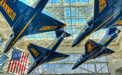 In to the Blue (grandalloliver) Tags: blue color building art colors beauty museum photoshop canon airplane raw angle florida aviation navy jet wideangle blueangels tiff hdr pensacola topaz photoshopelements hss photomatix canonefs1755mmf28usm garyoliver rebelxsi canonxsi topazadjust grandalloliver grandalloliverphoto