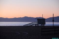 1-14-2014 (mcshots) Tags: ocean california winter sunset sea sky usa mountains beach nature water coast stock socal sands mcshots lifeguardtower losangelescounty