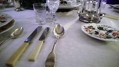 Knife, Knife, Spoon (Matty Ring) Tags: house glass table clinton knife plate spoon tudor national trust dining manor cutlery baddesley