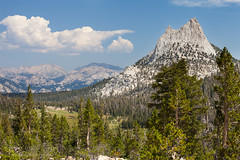 Cathedral Peak (Hank Christensen) Tags: california ca trees cliff usa mountain nature forest landscape outside outdoors nationalpark unitedstates natural outdoor yosemite northamerica backcountry yosemitenationalpark wilderness cathedralpeak johnmuirtrail
