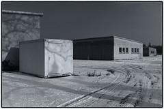 Campus Nord (duesentrieb) Tags: schnee winter blackandwhite bw snow architecture germany deutschland europa europe brunswick architektur schwarzweiss braunschweig niedersachsen lowersaxony tumblr