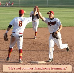 080 - He's not our most handsome teammate  IMG_7667_9135685519_o (Paul L Dineen) Tags: words sayit sports baseball smgchecked smgdeclined baseballnov17 smugmugbaseball csl csl2014to2016 csl2014to2016b csltodo isdone college