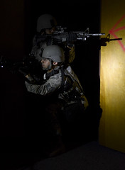 High and low (Official U.S. Air Force) Tags: team special airforce emergency tactics swat services weapons est macdillafb