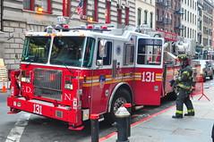 FDNY Tower Ladder 131 (Triborough) Tags: nyc newyorkcity ny newyork tower manhattan firetruck fireengine ladder fdny lowermanhattan civiccenter seagrave newyorkcounty towerladder newyorkcityfiredepartment ladder131 towerladder131