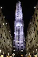 Rockerfeller (CAaverallPhoto) Tags: city nyc newyorkcity travel sky urban usa newyork building night america buildings unitedstates state cities explore american tall rockerfeller