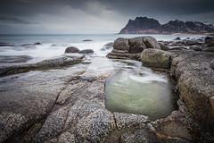 Utakleiv Rocks (NBuer) Tags: longexposure sea seascape water norway reflections landscape rocks lofoten landscapephotography utakleiv