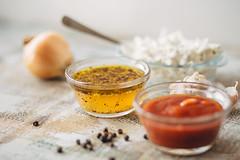 Three different marinades (zuuev) Tags: summer food meat grill pork foodporn chop shashlik