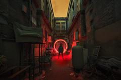 Tai'anli New Urban District (inhiu) Tags: china longexposure nightphotography lightpainting beijing urbex 泰安里 taianli