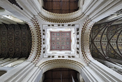 The Tower Ceiling (Subversive Photography) Tags: uk detail history church beautiful abbey architecture religious cathedral sony murals grand symmetry ceiling ornate hertfordshire stalbans normans a7r 17mmtse sonya7r