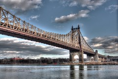 Queensboro Bridge (David Krarup) Tags: nyc bridge ny newyork queens eastriver queensborobridge rooseveltisland hdr