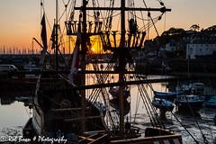 20150607_5469_Brixham (Rob_Boon) Tags: greatbritain england haven port sunrise reflections fishing ship harbour tide low eb engeland goldenhind brixham sirfrancisdrake zonsopkomst robboon