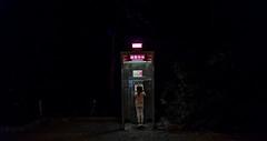 Caperucita / Riding hood (nuielo) Tags: red summer berlin girl familia night danger noche call phone darkness gente phonebooth nia cabina llamada peligro verano soledad sola solitario redridinghood telefonica oscuridad ridin caperucita