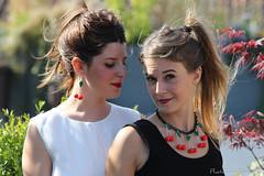 Collana e orecchini ciliegie
