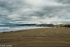 Early Morning Beach Cleaned (informalphotography) Tags: ocean morning mountains beach clouds bay pacific santamonica palisade freeforallunlimited