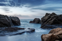 Camino de agua (domimb_) Tags: marina almeria genoveses noctura parquecabodegata calalosamarillos